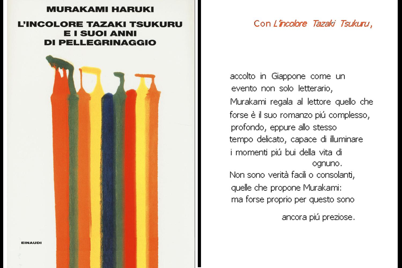 copertina del libro Murakami Haruki - L'incolore Tazaki Tsukuru e i suoi anni di pellegrinaggio