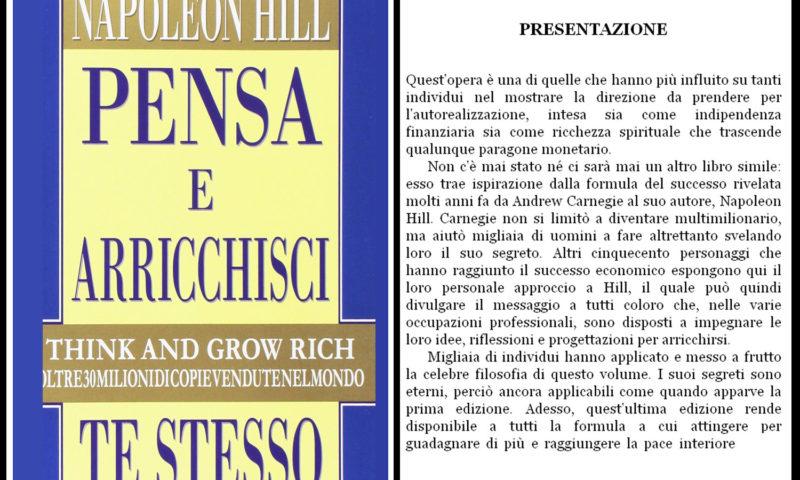 cover del libro pensa e arricchisci te stesso di Napoleon Hill