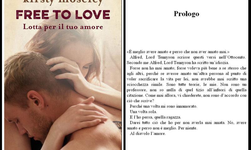 cover del libro Kirsty Moseley Free to love lotta per il tuo amore