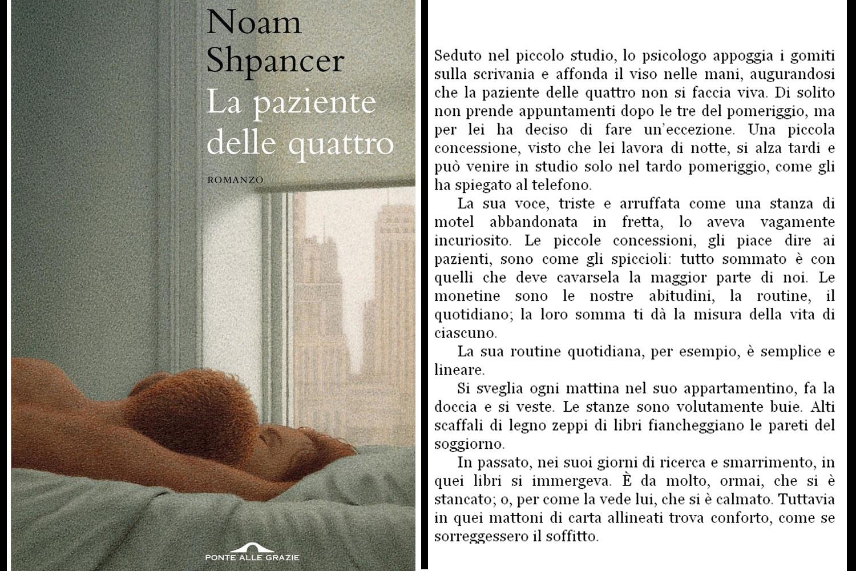 cover del libro Noam Shpancer, La paziente delle quattro