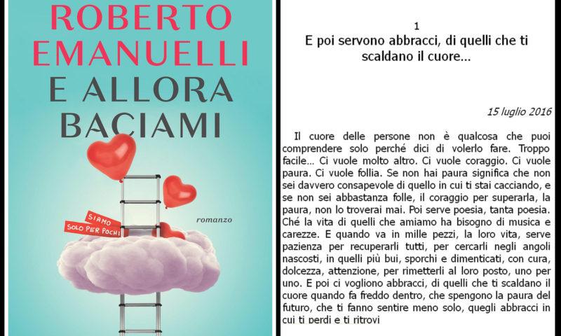 Roberto cover del libro Emanuelli, E allora baciami