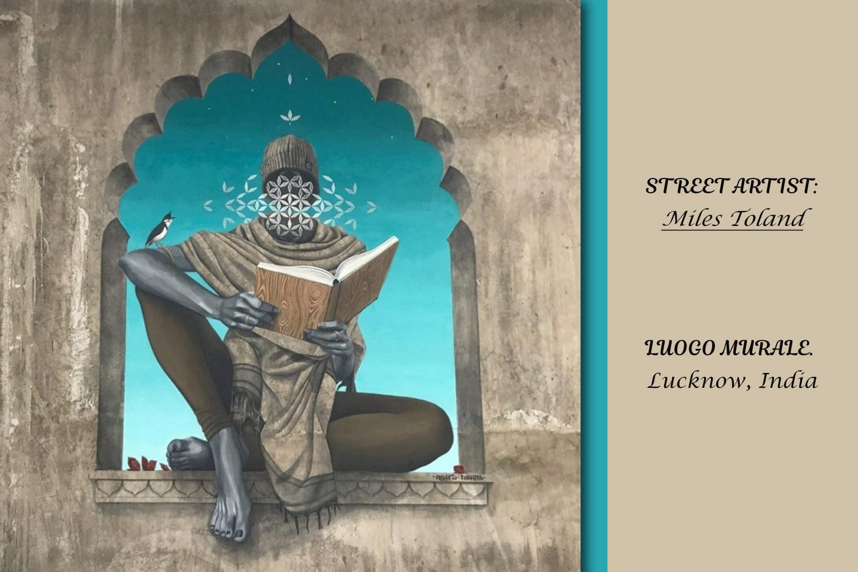 I libri nella street artist con Miles Toland