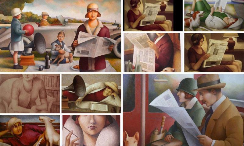 i-libri-nei-dipinti-di fabio-hurtado