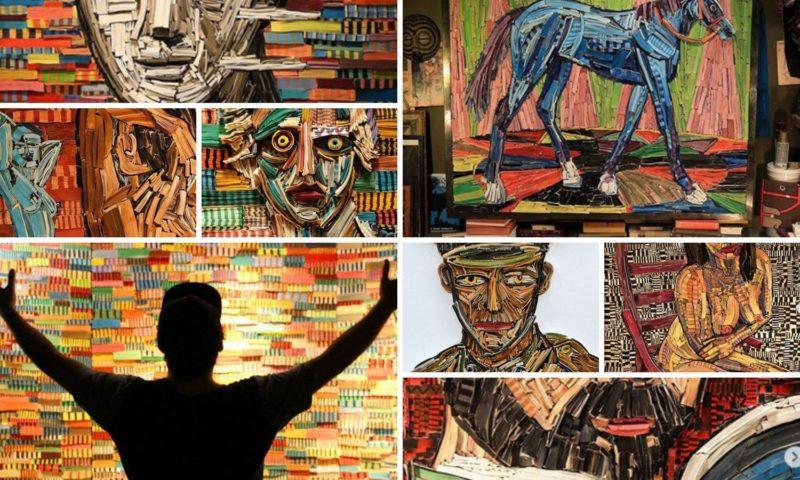 Le sculture e le opere d'arte fatte con carta ricilata realizzate dall'artista Nick