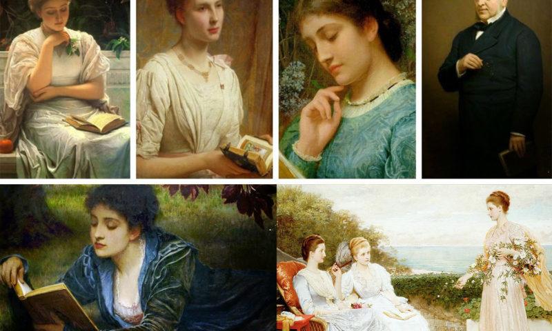 Charles Edward Perugini-donne-leggono